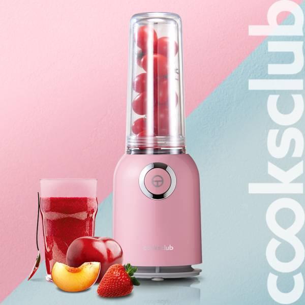 澳洲 Cooksclub  歡樂雙享輕巧果汁機 / 蔬果調理機 -甜心粉 (分體式分享杯/保溫杯) 果汁機,調理機,蔬果機,Cooksclub,澳洲,