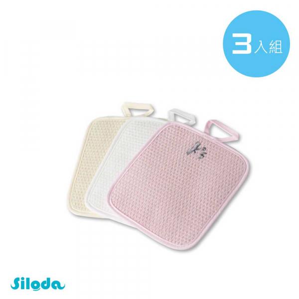 【Siloda】蠶絲清潔布3片入組 清潔布,蠶絲,環保,天然
