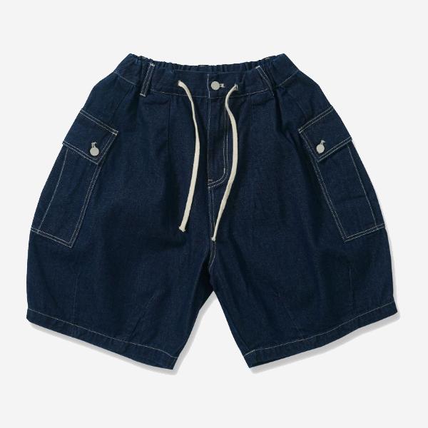 口袋抽繩繭型短褲