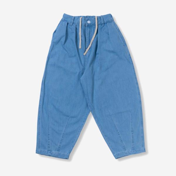 復古中性寬版單寧褲