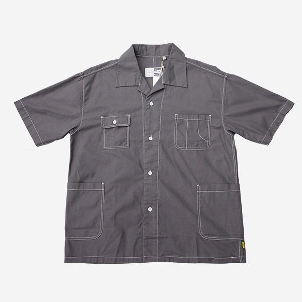 開襟工裝口袋襯衫
