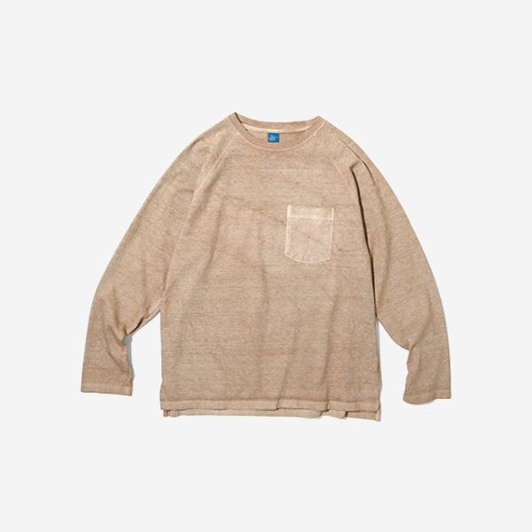 GOOD ON - HVY JERSEY LS RAGLAN POCKET T - LATTLE