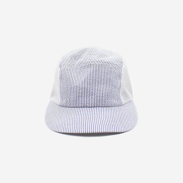 CABLEAMI - SHEER SUCKER / MESH JET CAP-STRIPE