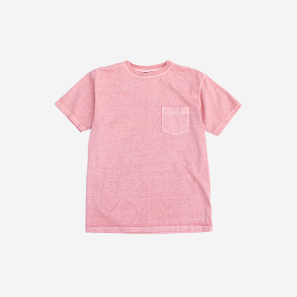 GOOD ON - CREW NECK POCKET T-SHIRT / CORAL