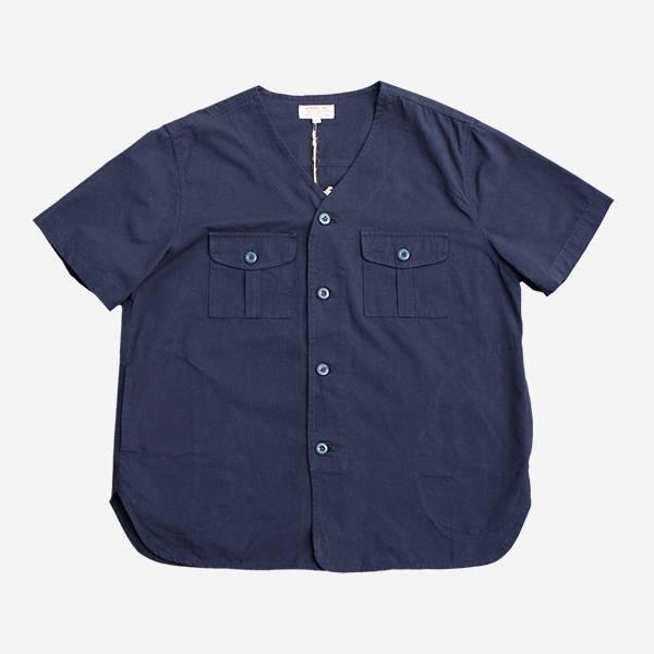 軍事棒球口袋短袖襯衫