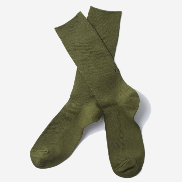 ROTOTO - STRETCHLY RIBBED CREW SOCKS - (5 COLOR)