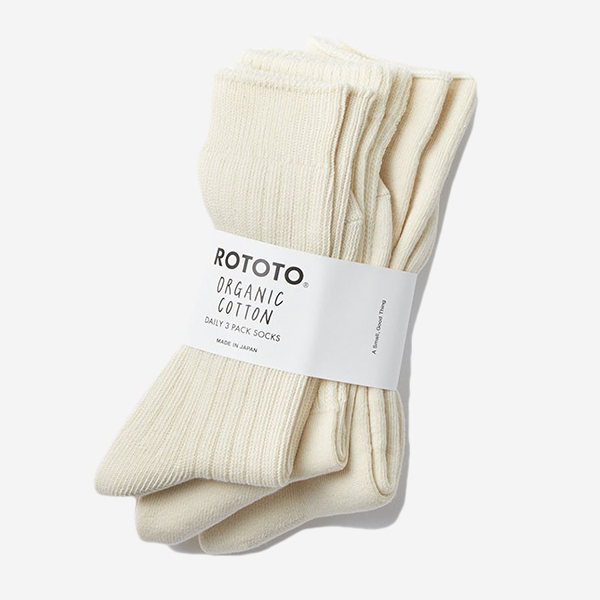 ROTOTO - ORGANIC COTTON DAILY 3 PACK SOCKS