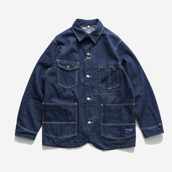 單寧工裝夾克