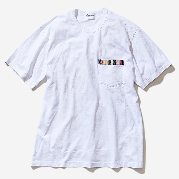 KUON - SAKIORI TRIMMED POCKET-SHIRT WHITE