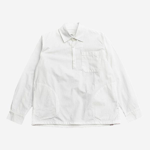 棉質抽繩套頭襯衫