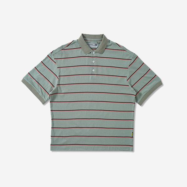 條紋復古POLO衫