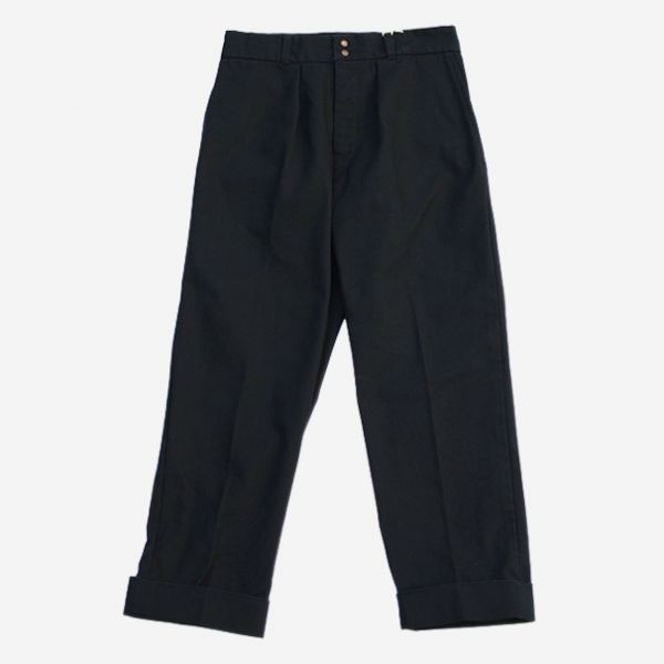 FUJITO - WIDE SLACKS NAVY
