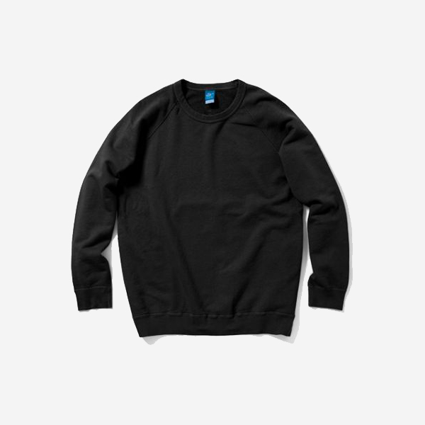 GOOD ON - RAGLAN CREW SWEAT SHIRTS-BLACK