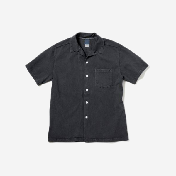 GOOD ON - S/S OPEN TEE SHIRTS-BLACK