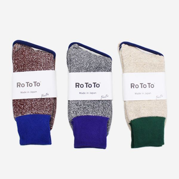 ROTOTO - DOUBLE FACE SOCK (SILK & COTTON)