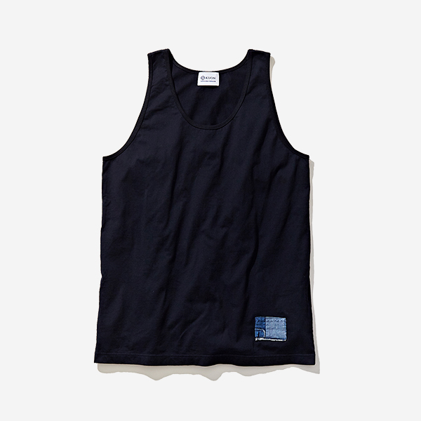 KUON - BORO PATCHED TANK TOP BLACK