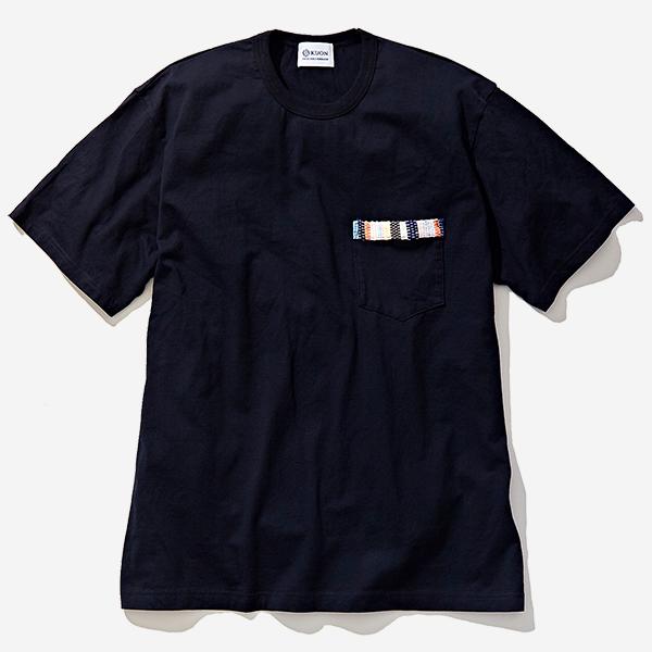 KUON - SAKIORI TRIMMED POCKET-SHIRT BLACK