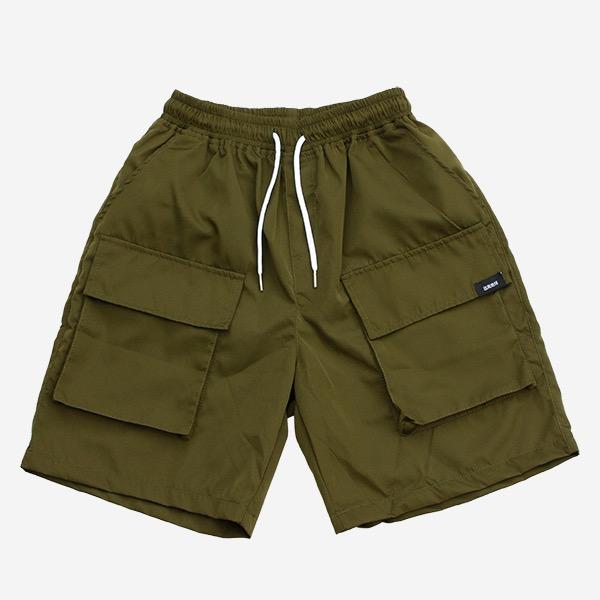 薄料工裝口袋短褲