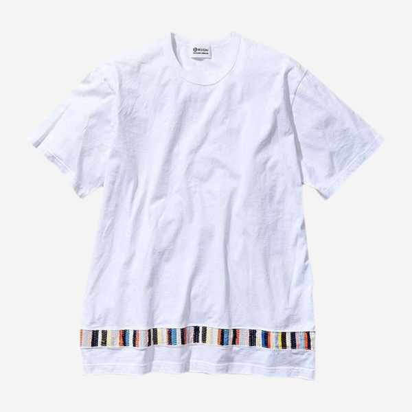 KUON - SAKIORI SWITCHED T-SHIRT WHITE
