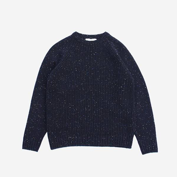 FUJITO - C/N RIB SWEATER NAVY