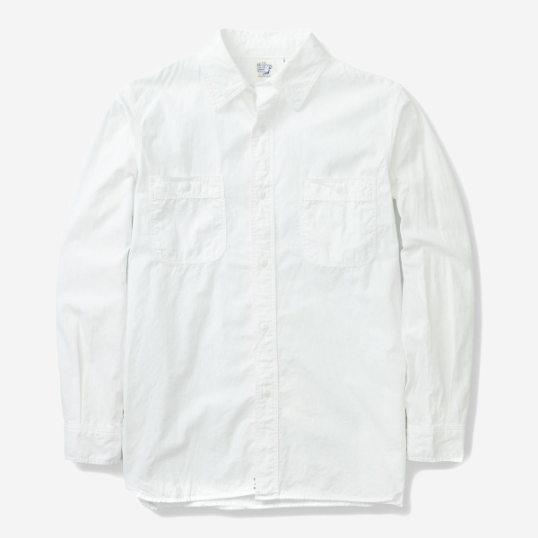 ORSLOW - WORK SHIRTS WHITE CHAMBRAY