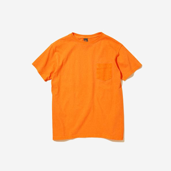 GOOD ON - CREW NECK POCKET T-SHIRT / ORANGE