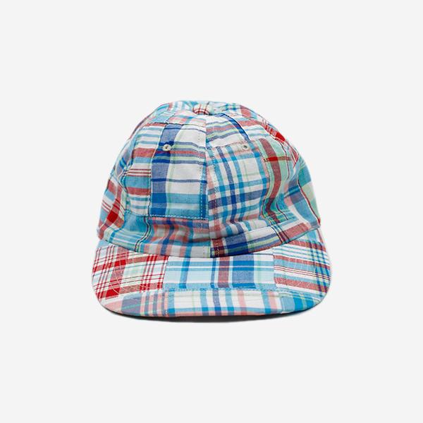 CABLEAMI - MADRAS PATCHWORK CAP - BLUE