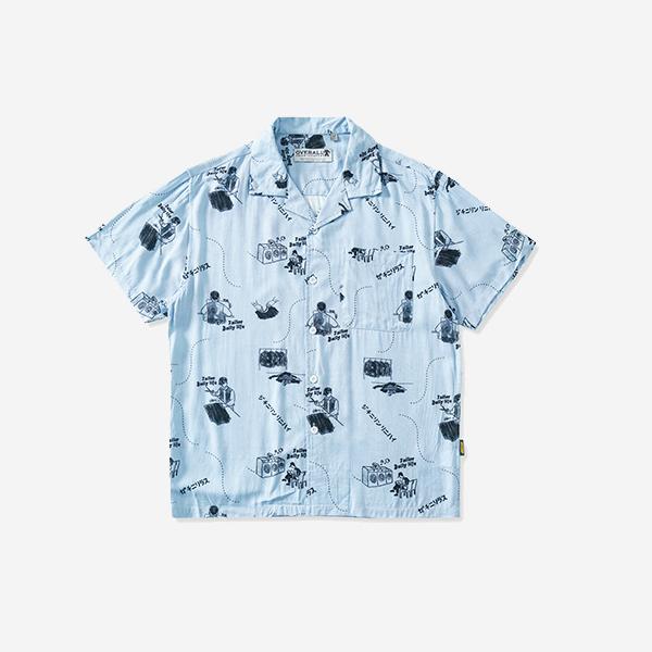 ALOHA復古圖案襯衫