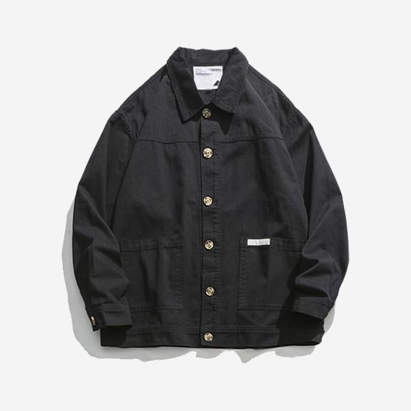翻領大口袋夾克