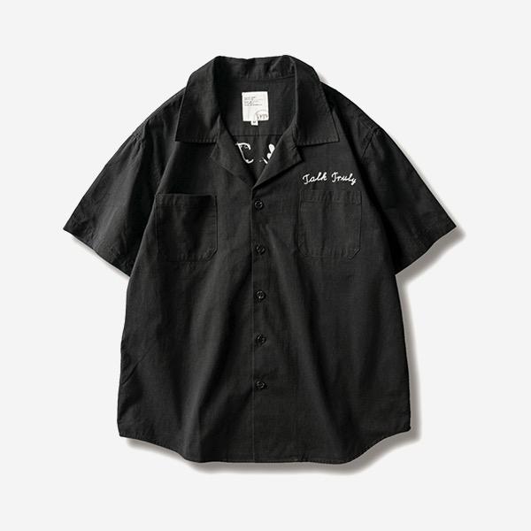 南洋刺繡開襟軍裝襯衫