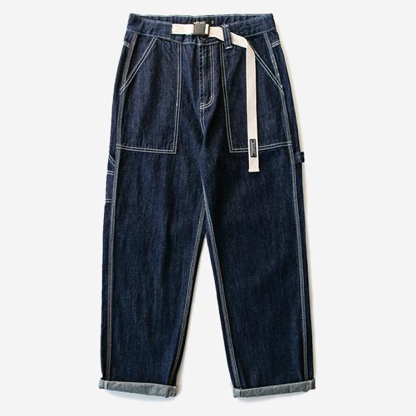 多口袋寬鬆工裝褲