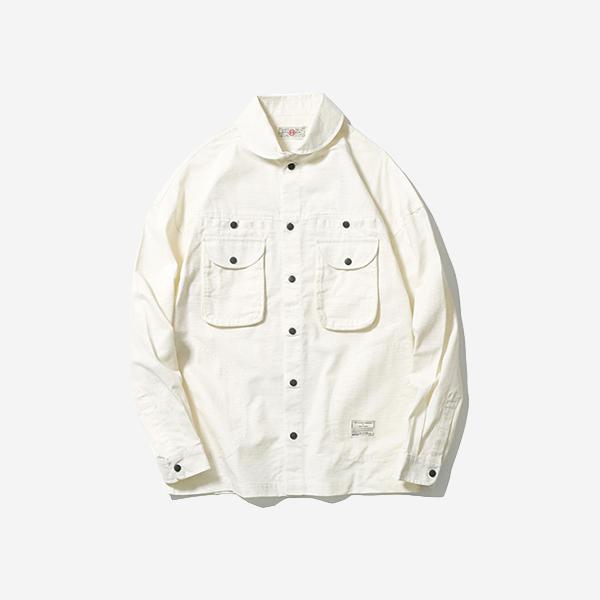 抗撕裂壓扣工裝襯衫外套