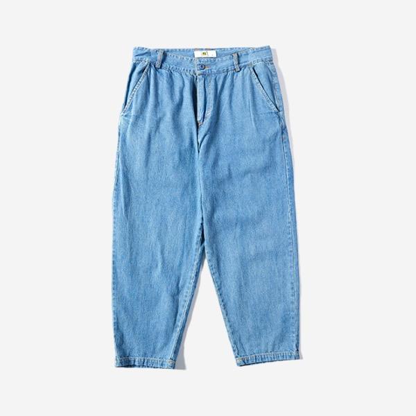 淺單寧夏日寬鬆長褲