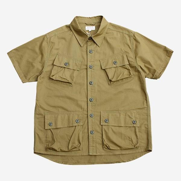 軍綠口袋軍事襯衫