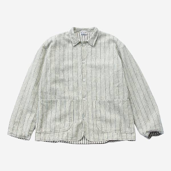 TENDER CO. - WEAVER'S STOCK CURVE FRONT JACKET-CREAM/BLUE