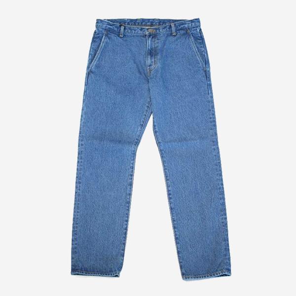 KUON - DENIM SLIM PANTS-BLEACHED