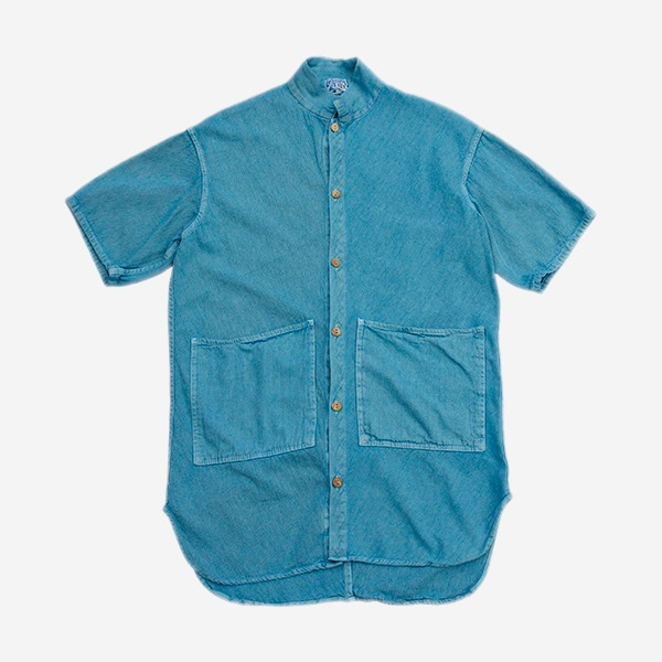 TENDER CO. - SHORT SLEEVE BOOMERANG SHIRT BLUE