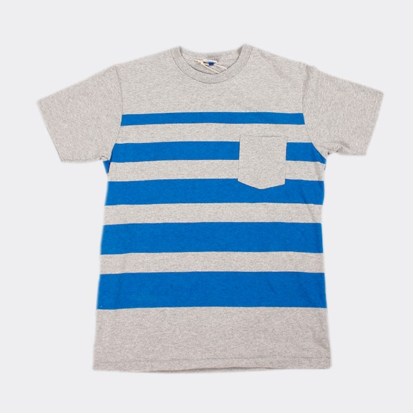 VELVA SHEEN - WIDE WAVE STRIPE TEE H.GREY