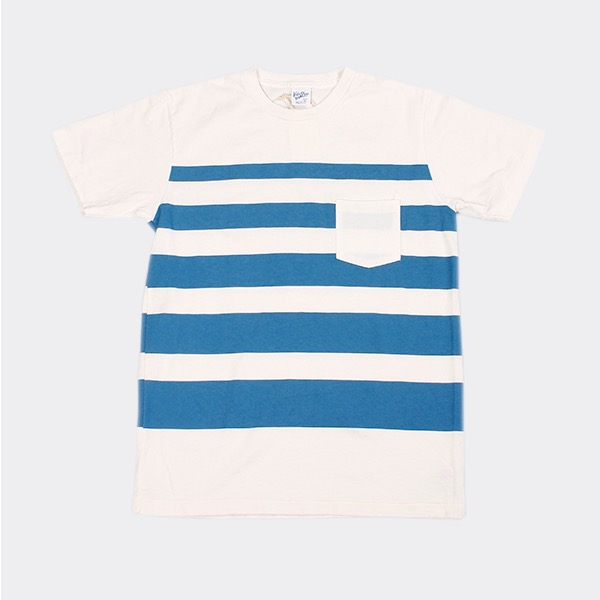 VELVA SHEEN - WIDE WAVE STRIPE TEE WHITE