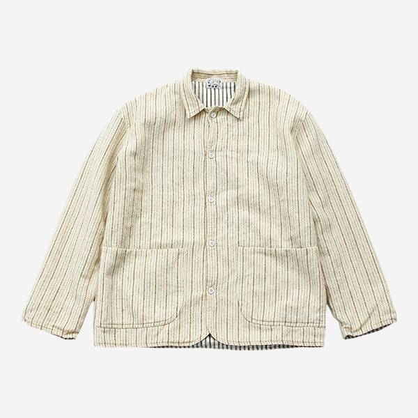 TENDER CO. - WEAVER'S STOCK CURVE FRONT JACKET-CREAM/BROWN