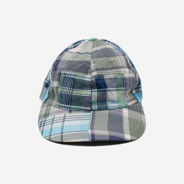 CABLEAMI - MADRAS PATCHWORK CAP - GREEN