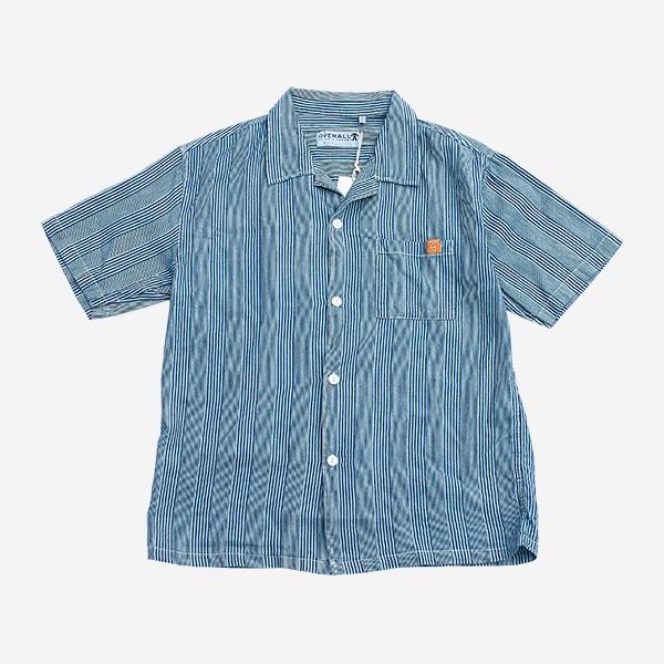 條紋藏青色古巴襯衫