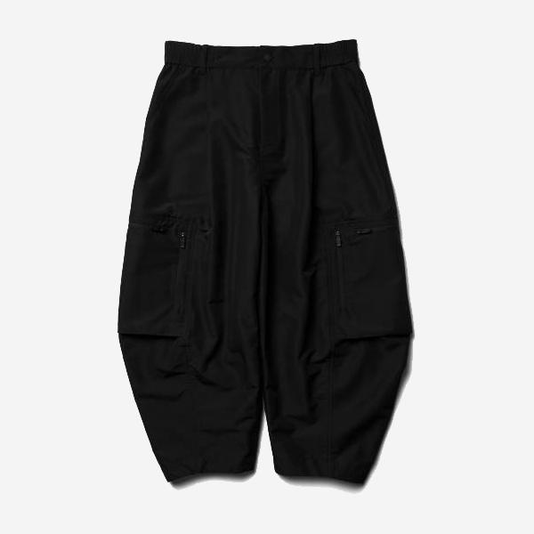 WISDOM - WIDE TAPERED PANTS - BLACK