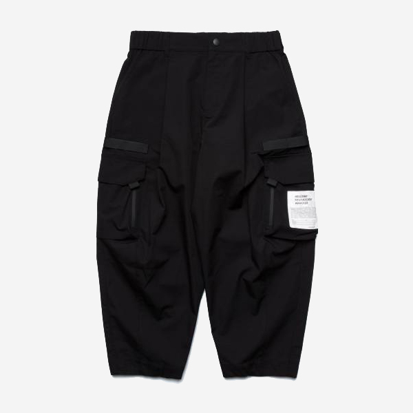 WISDOM - TACTICAL ARMY PANTS - BLACK