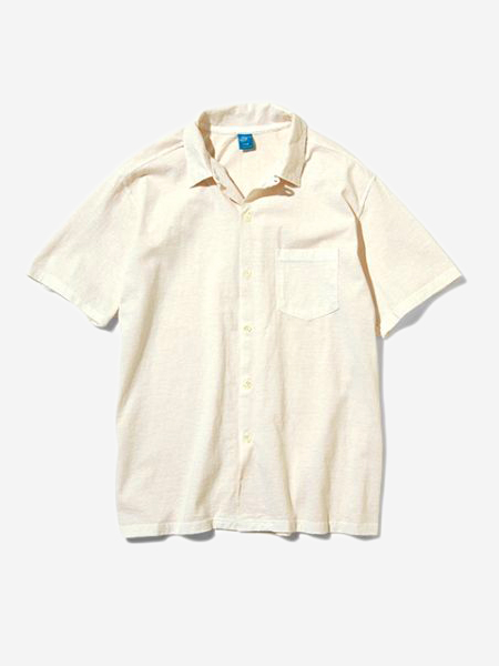 GOOD ON - S/S OPEN TEE SHIRTS-NATURAL