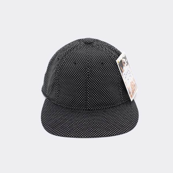 POTEN - POLKA DOT BASEBALL CAP BLACK