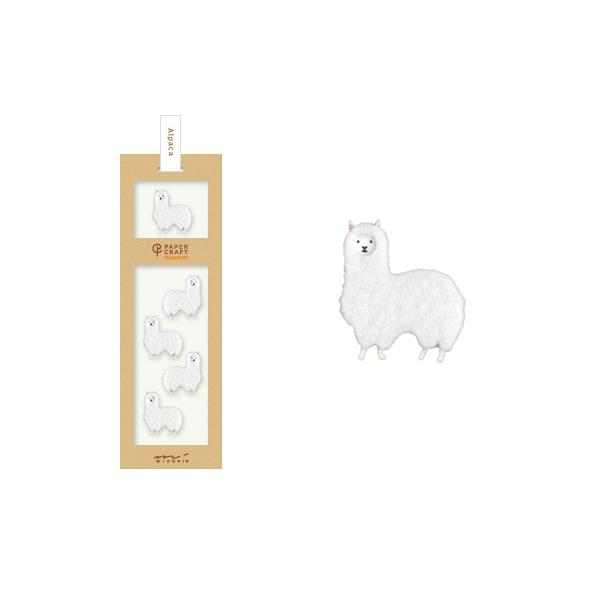 PCM紙藝博物館-造型貼紙-羊駝