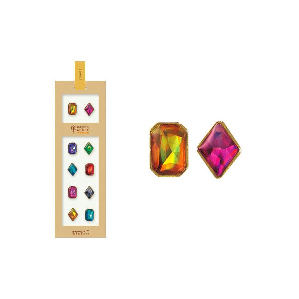 PCM紙藝博物館-造型貼紙-寶石