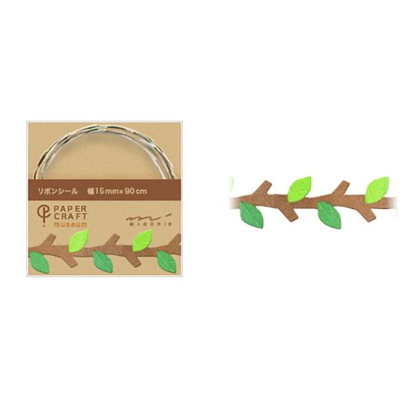 PCM紙藝博物館-緞帶貼-樹枝