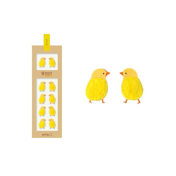 PCM紙藝博物館-造型貼紙-小雞